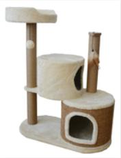 Bottom Plat Multi Level Cat Scratching Post  49X49X82cm Size Various Shape