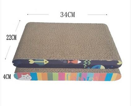 Catnip Inside Cardboard Cat Bed , Thick Cat Claws Scratching Pad  Light Weight