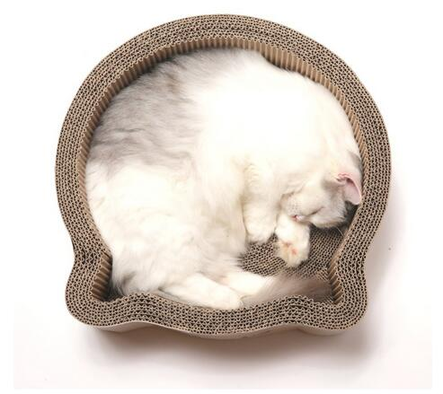Neutral Colors Cardboard Box Cat Bed 10%~20% Moisture Standard Recycled Material