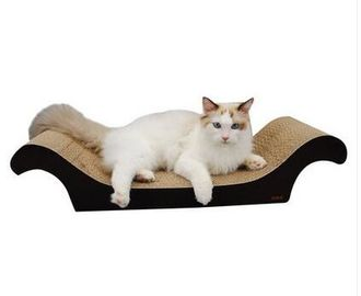 China Recycled Corrugated Cat Scratcher , Neutral Colors Vertical Cat Scratcher supplier