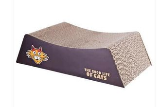 China Recycled Corner Cat Scratcher Corrugated , Couch Cardboard Scratch Pad SGS supplier