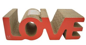 China OEM Corrugated Cat Scratcher , Durable Cat Scratching Pad Cardboard Glossy Lamin supplier