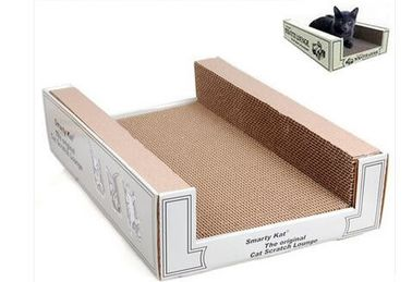 China Rectangle Corrugated Cat Scratcher Minimize Carbon Footprint Customized Size supplier