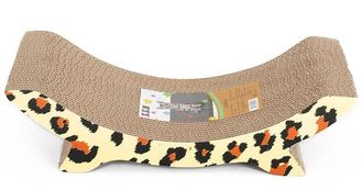 China Curved Sturdy Cardboard Cat Scratcher Extured Surface Satisfy Cats' Natural Need supplier