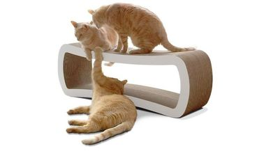 China Rectangular Cat Scratch Lounge Stable , Chaise Lounge Cat Scratcher Modern Style supplier