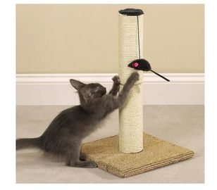 Durable Sisal Rope Cat Scratching Poles , Outdoor Cat
