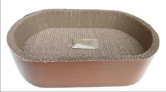 China Textured Corrugated Cat Scratcher ,  OEM Cardboard Scratching Box For Cats supplier