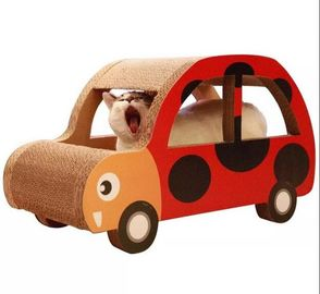 China Car Shaped Corrugated Cardboard Cat Scratcher OEM Printed Practice Sharpen Claws supplier