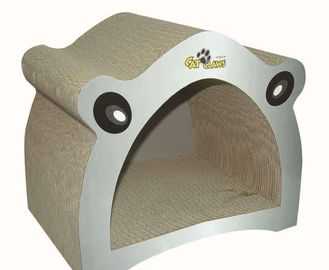 China Lovely Design Corrugated Cat Scratcher ,  Free Catnip Cat Wave Scratcher OEM  supplier