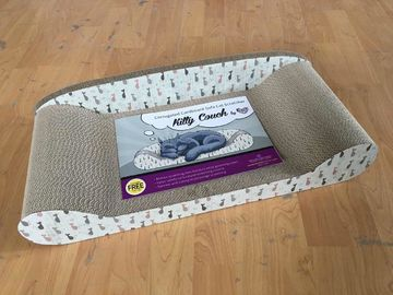 China Horizontal Cat Scratch Lounge Comfortable Premium Pressed Cardboard For Rest distributor