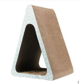 China Corrugated Triangle Cat Scratcher Abrasion Resistance 10%~20% Moisture Standard distributor