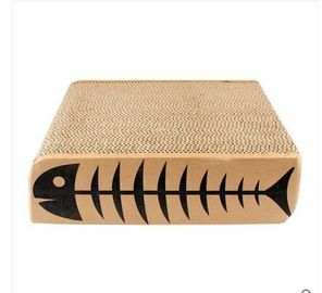 China Corrugated Cardboard Cat Scraching Mats , Cat Scratching Board with Catnip distributor