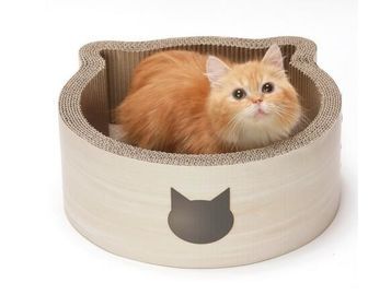 China Neutral Colors Cardboard Box Cat Bed 10%~20% Moisture Standard Recycled Material distributor