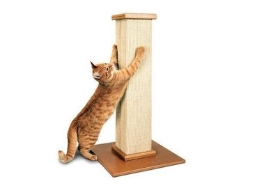 China Vertical Cat Scratching Poles Sisal , Carpet Cat Scratching Post Pantone Color distributor