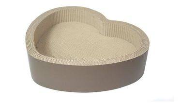 China Heart Shaped Cardboard Cat Scratcher Lounge Recyclable Premium Corrugated Paper distributor