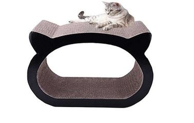China Comfortable Cardboard Cat Lounger Cozy Sleeping Space Cat Head Shaped SGS distributor